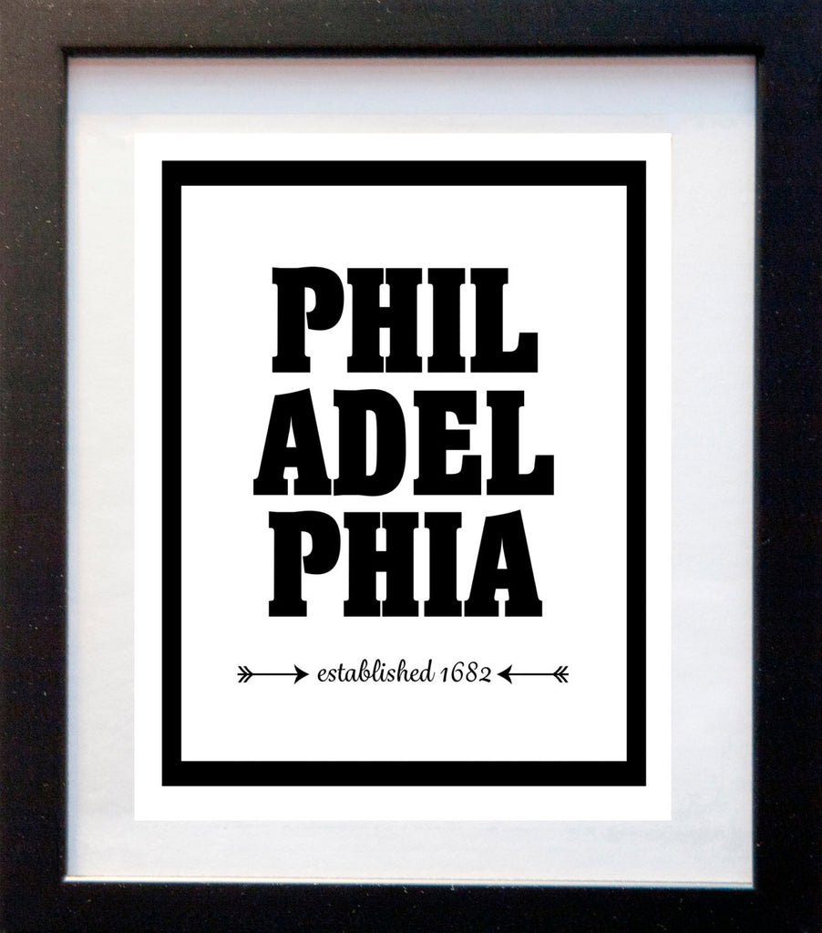 Philadelphia - Established 1682 - Matted Art Print - KatMariacaStudio - 3