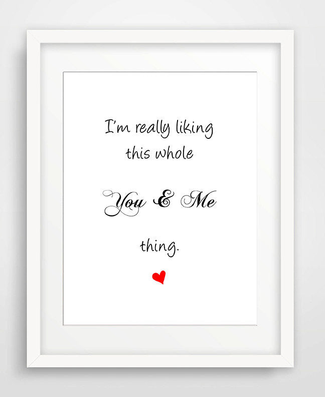 This You & Me Thing - Matted Art Print - KatMariacaStudio - 1