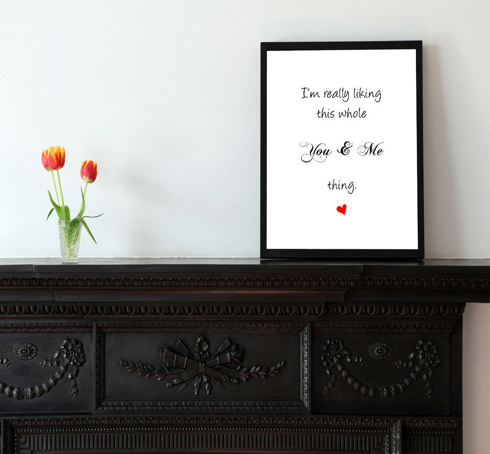 This You & Me Thing - Matted Art Print - KatMariacaStudio - 2