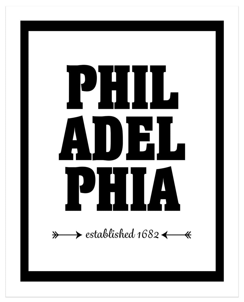 Philadelphia - Established 1682 - Matted Art Print - KatMariacaStudio - 4