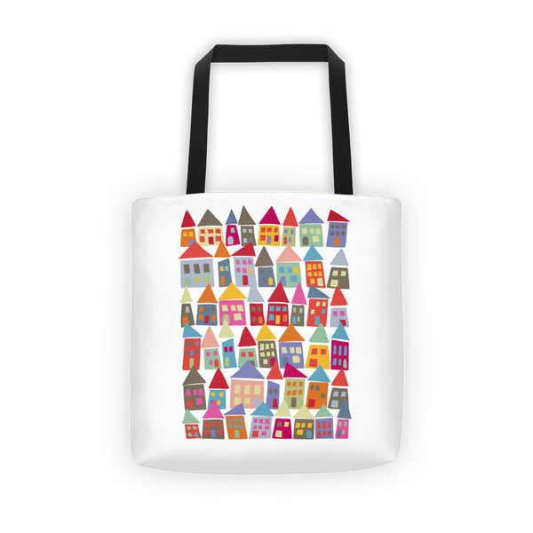 Bright, Colorful All-Over Tote Bag - The Neighborhood