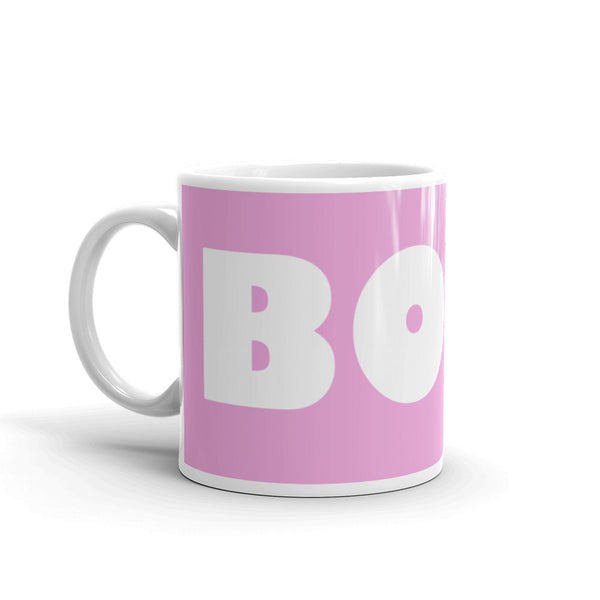 Boss Coffee Mug - Playful Pink Coffee Mug - KatMariacaStudio