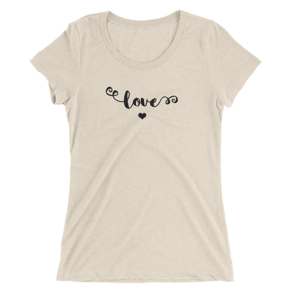 Love - Ladies' Short Sleeve T-Shirt in Black