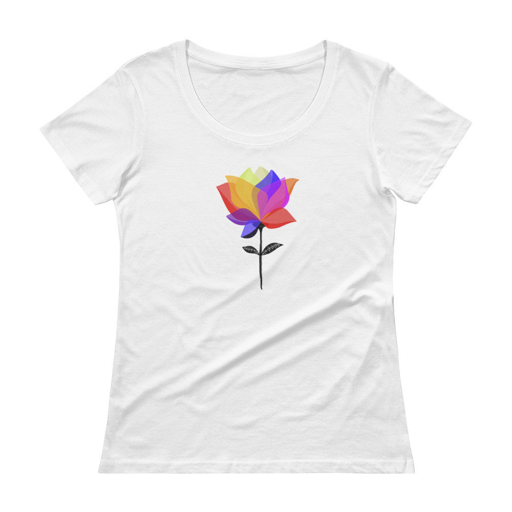 Pretty Flower - Ladies' Scoopneck T-Shirt