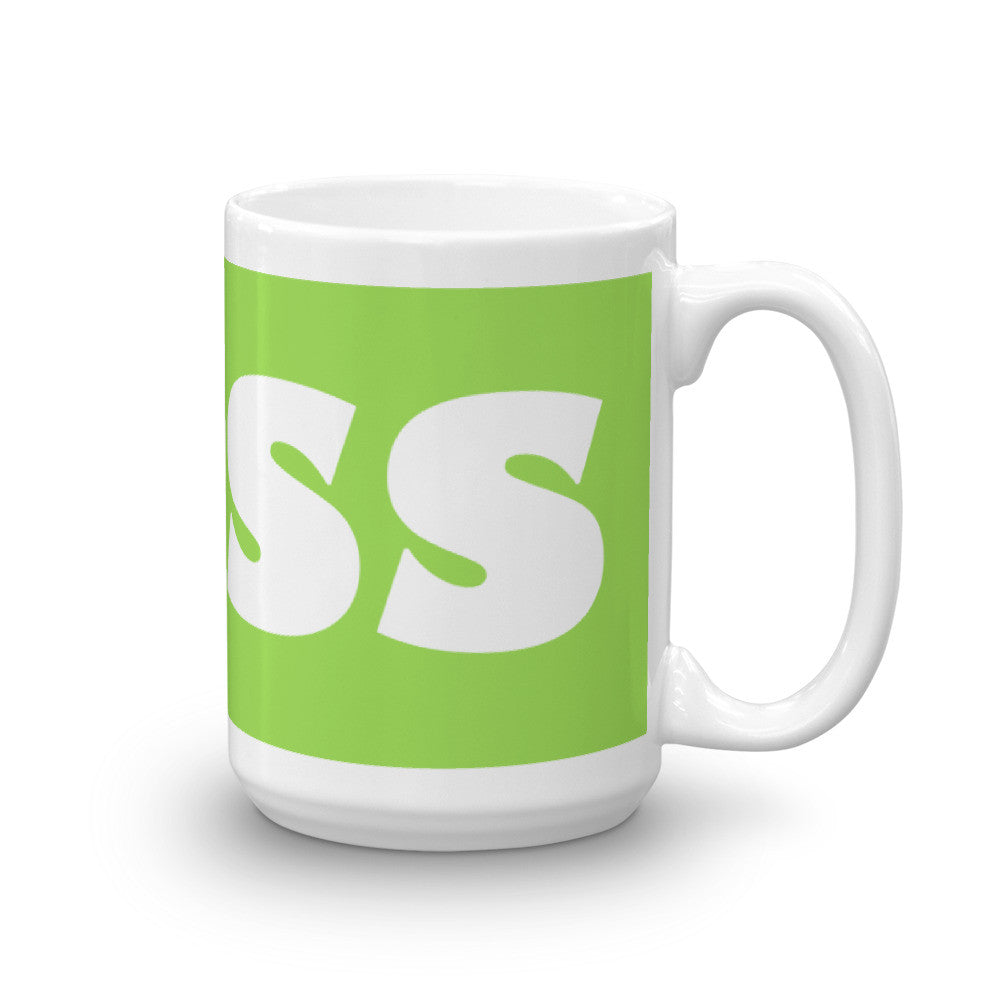 Boss Coffee Mug on Spring Green - KatMariacaStudio