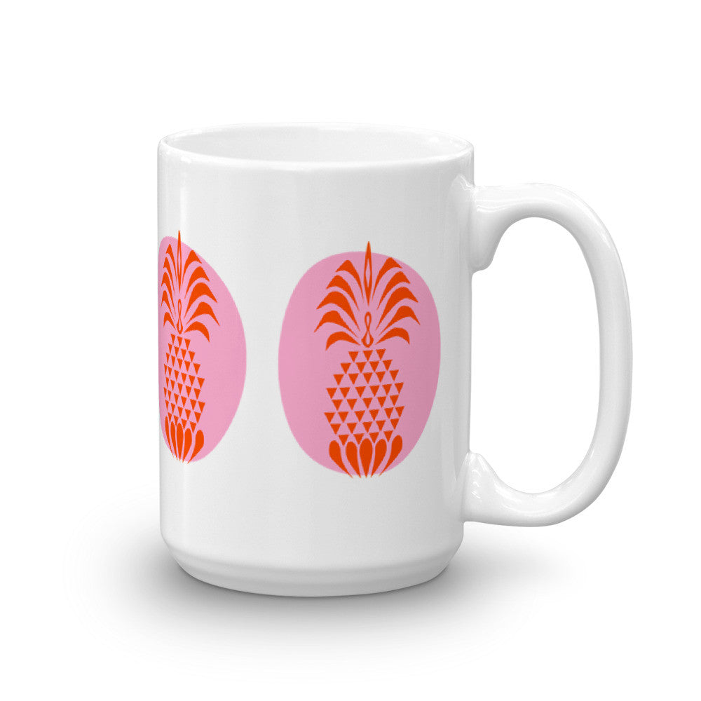 Pineapple Crush Bright Summer Color Coffee Mug