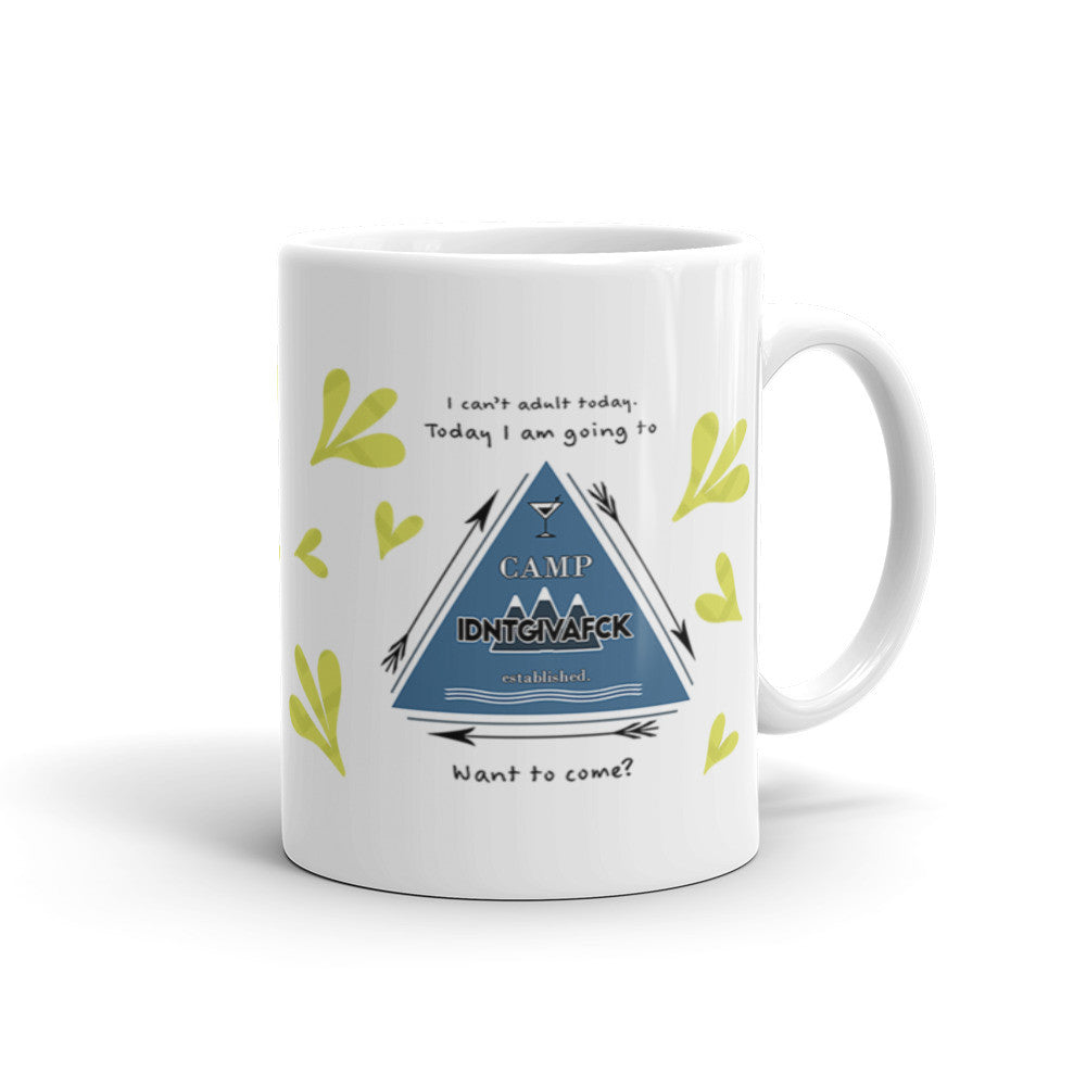 Camp IDNTGIVAFCK Coffee Mug - KatMariacaStudio - 1