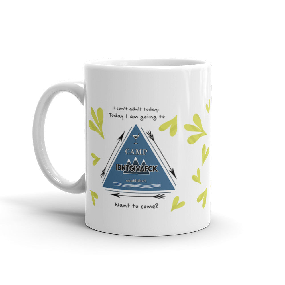 Camp IDNTGIVAFCK Coffee Mug - KatMariacaStudio - 2