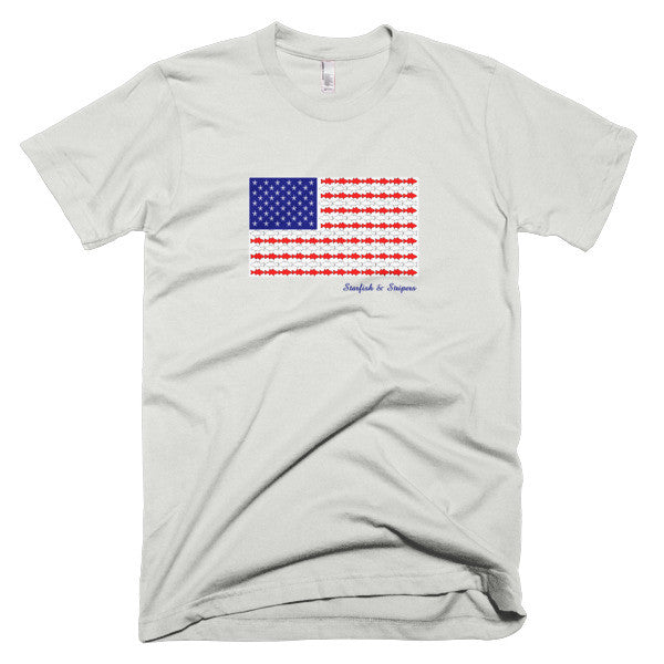 Starfish & Stripers American Flag Men's Short-Sleeve T-Shirt - KatMariacaStudio - 6
