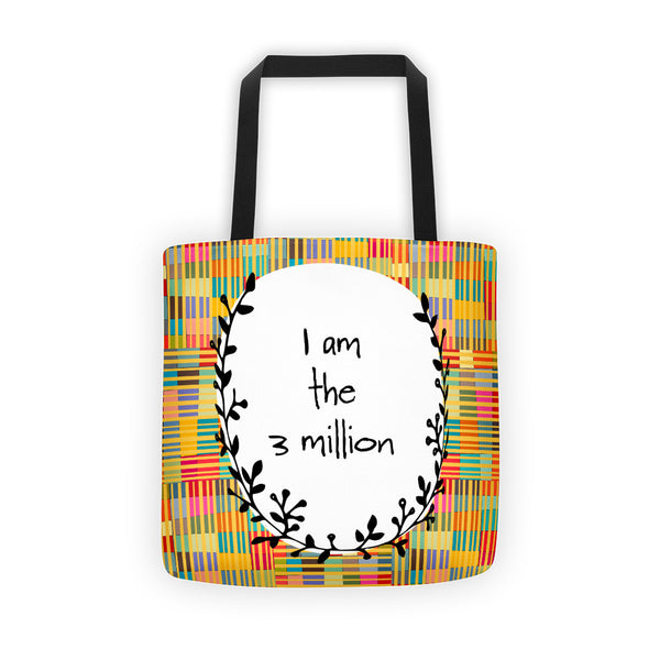 I Am The  3 Million - Bold Color All-Over Tote Bag - KatMariacaStudio