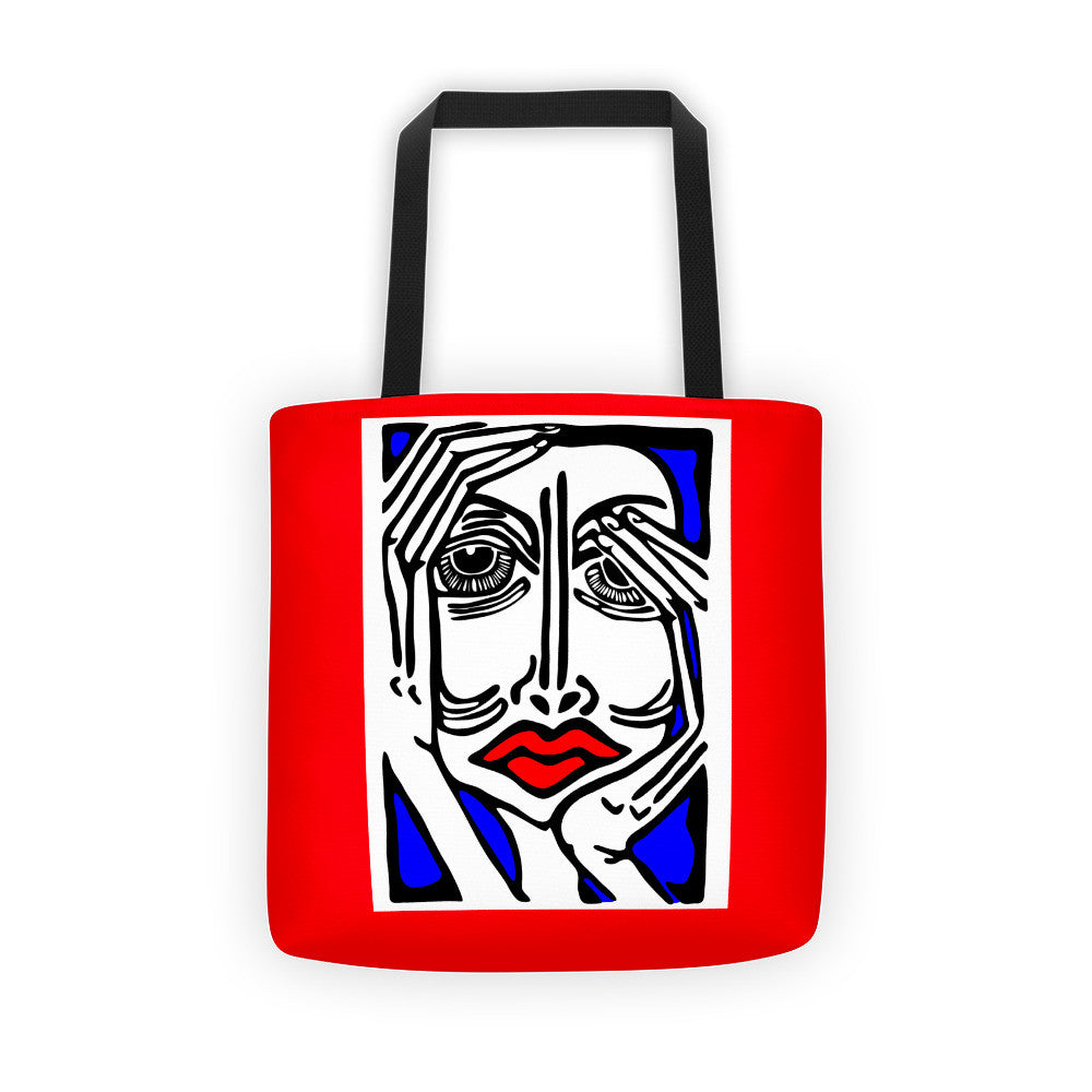 Red, White & Blue All-Over Tote - Sunday Afternoon Art Tote