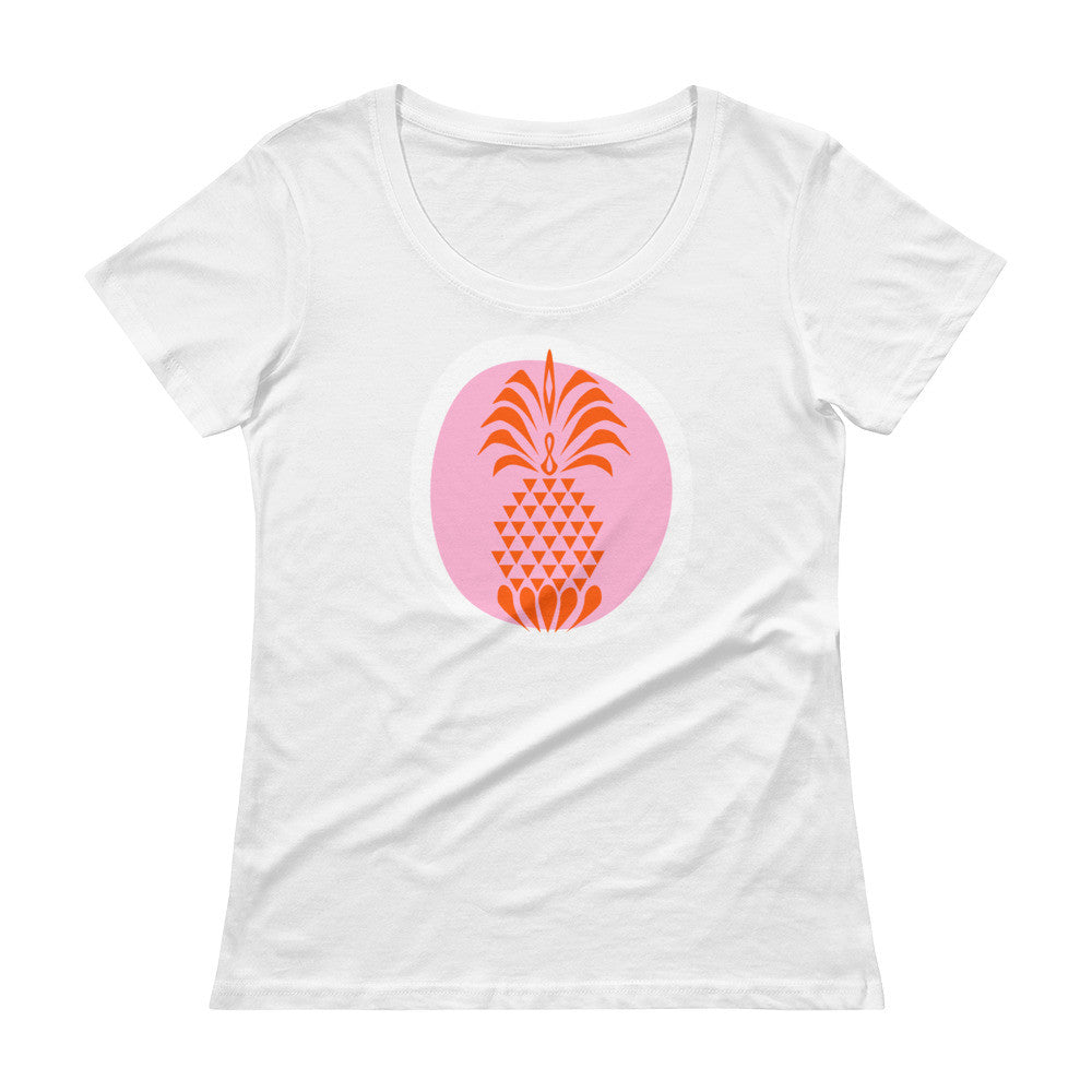 Ladies' Scoopneck T-Shirt - Pineapple Crush