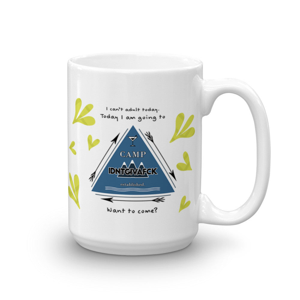 Camp IDNTGIVAFCK Coffee Mug - KatMariacaStudio - 5