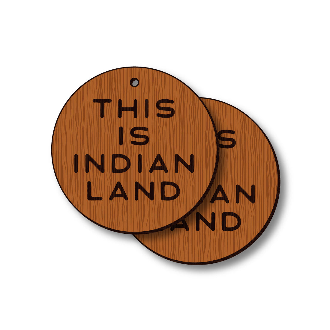 David Bernie Shop Laser Cut Cherry Wood Earrings This is Indian Land II