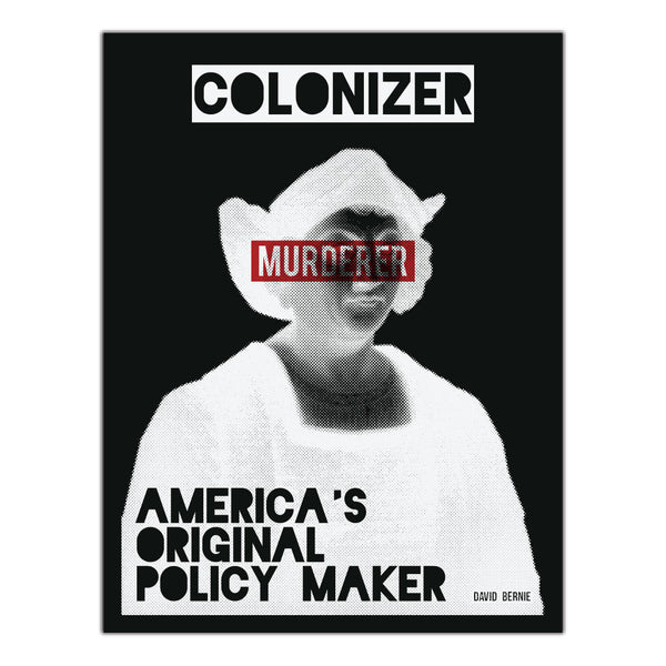 America's Original Policy Maker vinyl stickers by David Bernie Indigenous Native American First Nations American Indian
