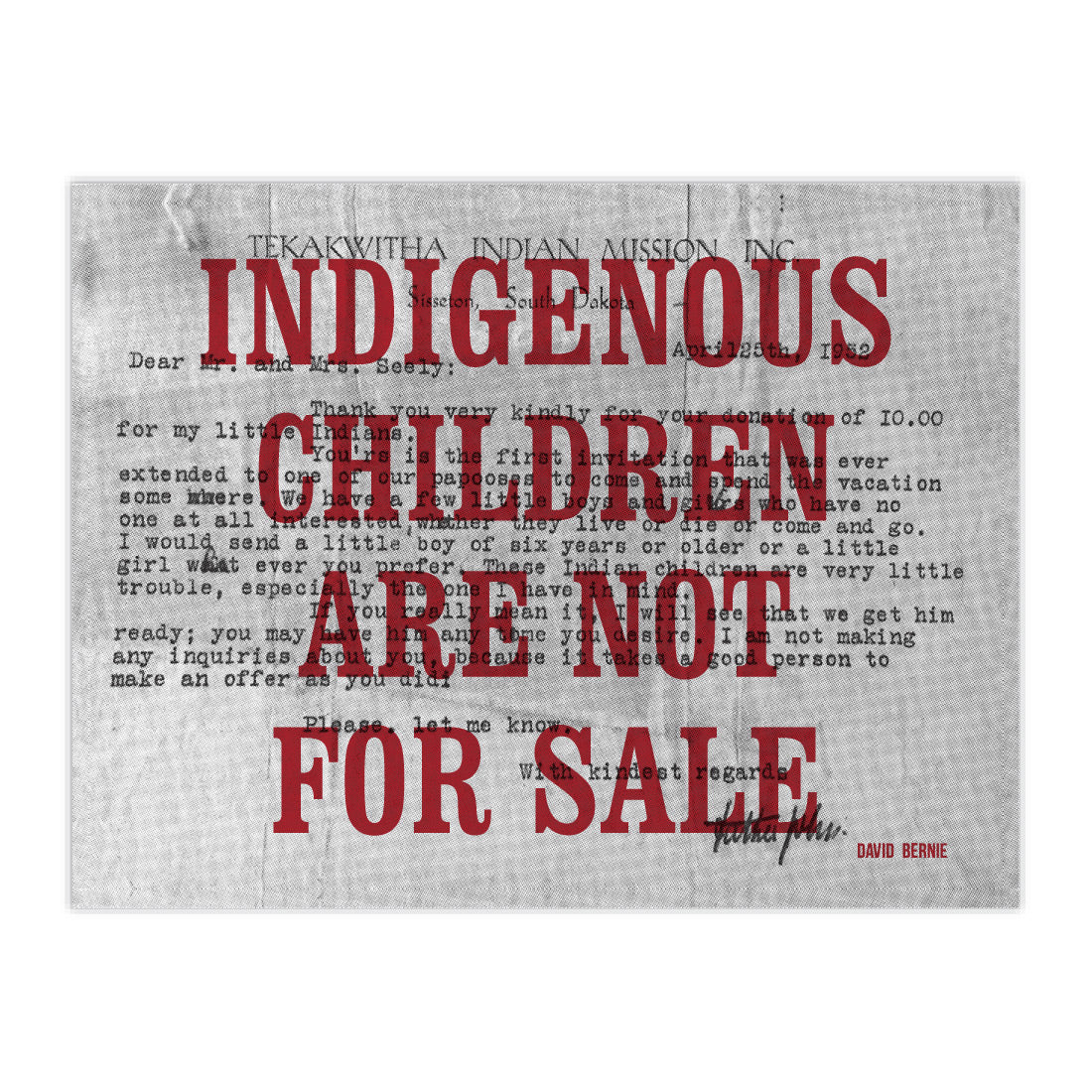 Indigenous Children Are Not For Sale vinyl stickers by David Bernie Indigenous Native American First Nations American Indian Aboriginal
