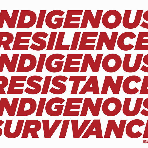 Indigenous Resilience Resistance Survivance vinyl stickers by David Bernie Indigenous Native American First Nations American Indian Aboriginal