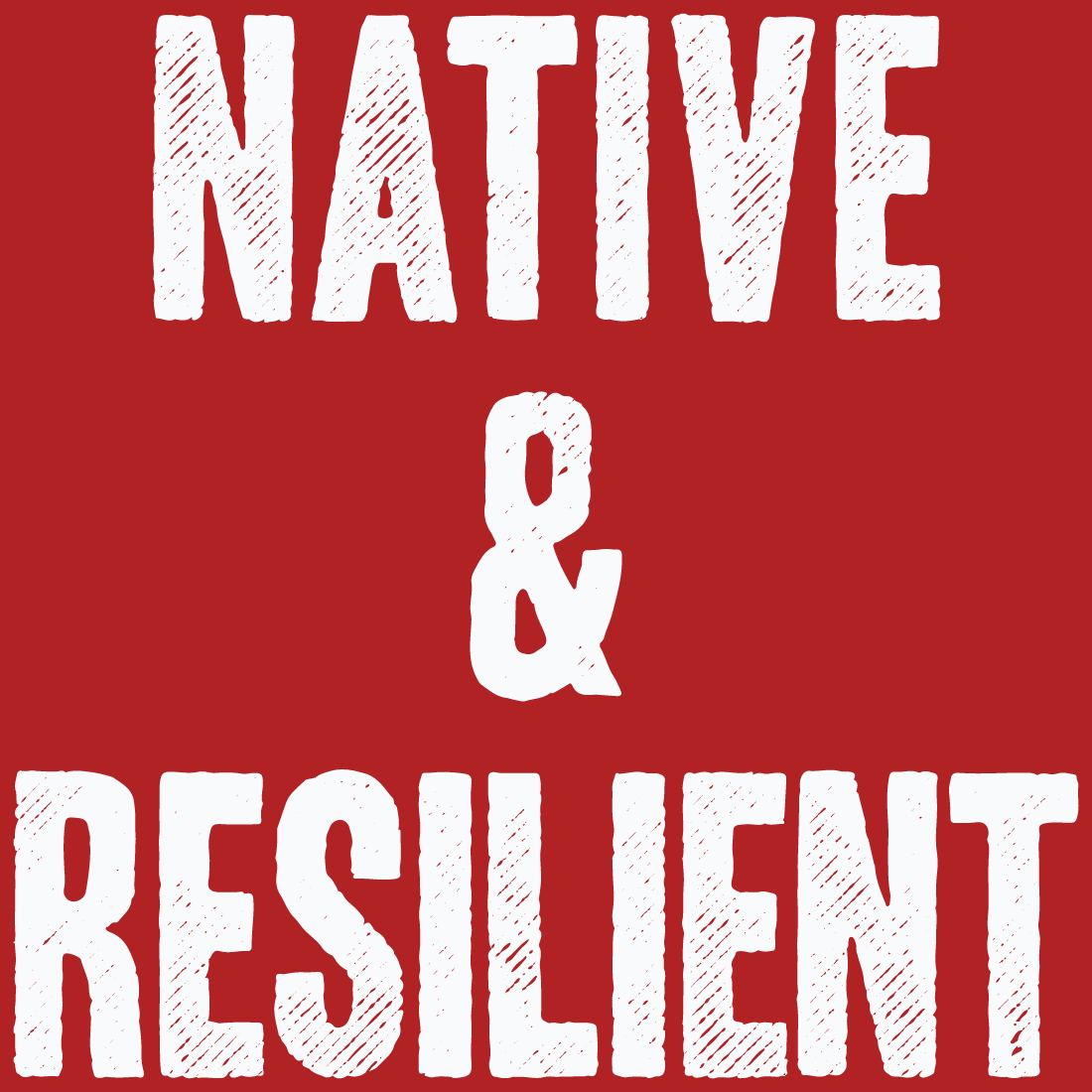 Native & Resilient vinyl stickers by David Bernie Indigenous Native American First Nations American Indian Aboriginal