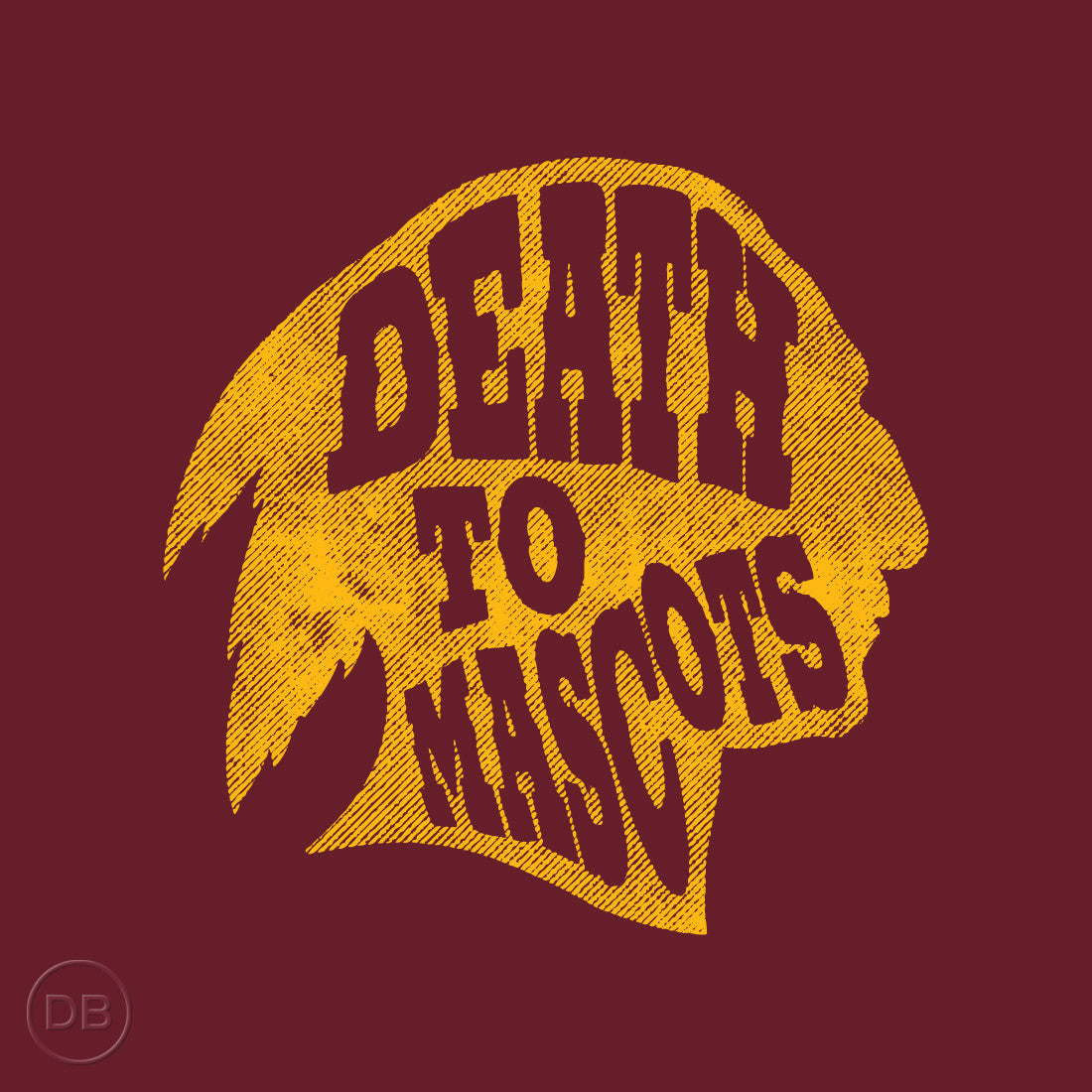 Death to Mascots I (Redskins) Tee by Indigenous artist David Bernie