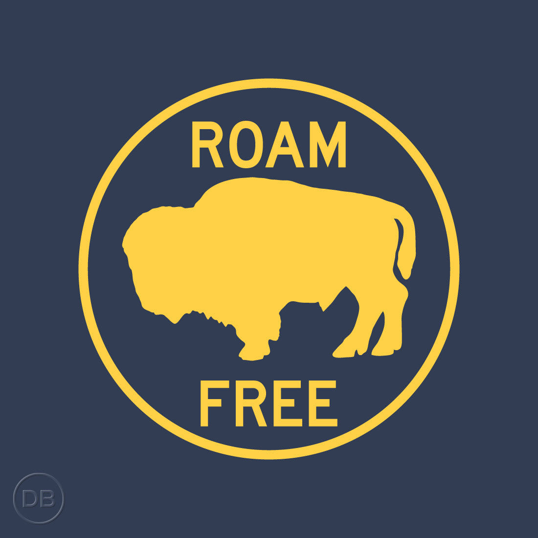 Roam Free Tee by Indigenous artist David Bernie