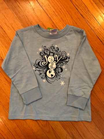 JOY TO THE WORLD Toddler long sleeve T