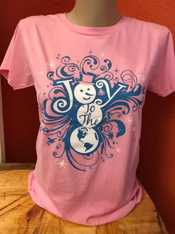 JOY TO THE WORLD ladies relaxed fit short sleeve T