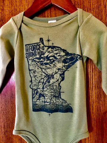 MinneYoda long sleeve organic/USA made onesie