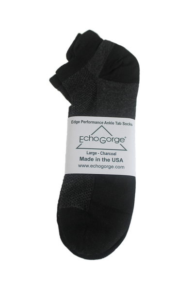 Edge Performance Ankle Tab Socks. Made in the USA