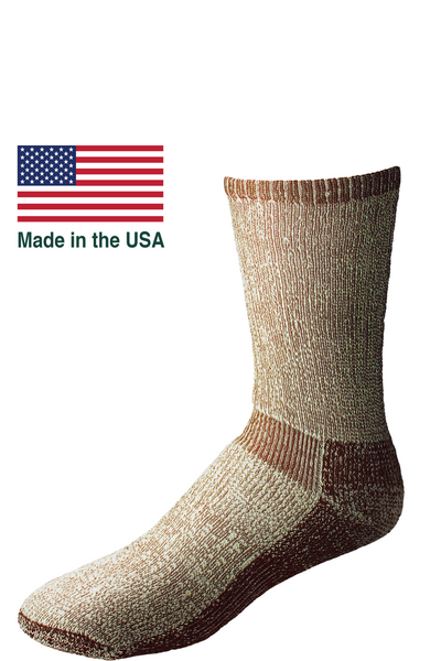 Merino wool hiking hunting socks Made in the USA. High quality cushioned socks