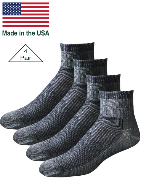 Merino Wool Quarter Socks Made in USA