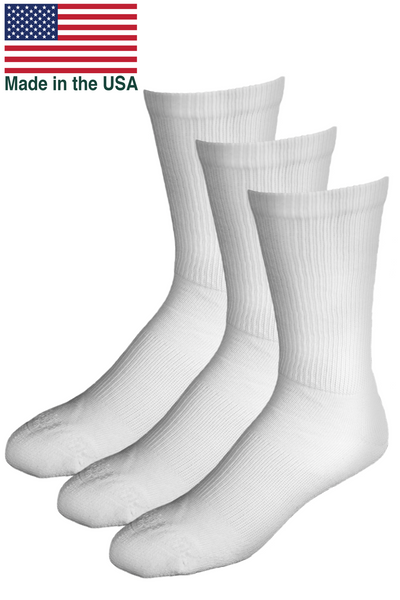 OUTLAST® Temperature Control Socks, 3 Pair Bundle - Made in USA Size: Large, Color: White