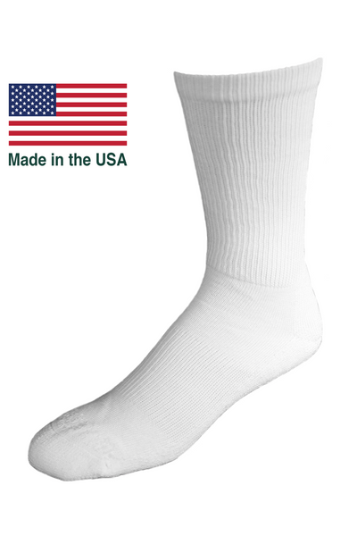 OUTLAST® Temperature Control Socks - Made in USA     Size: Large, Color: White