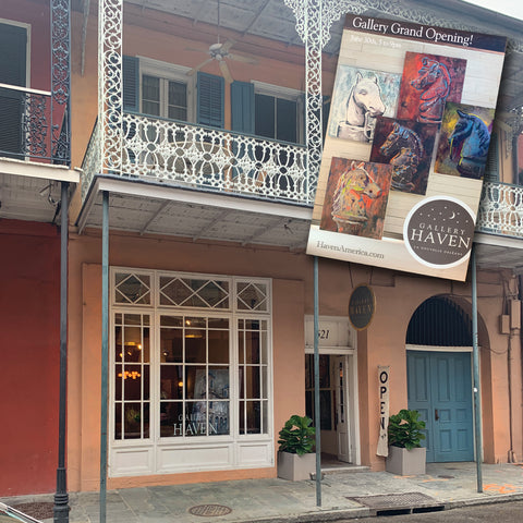 Front of Gallery Haven in French Quarter New Orleans