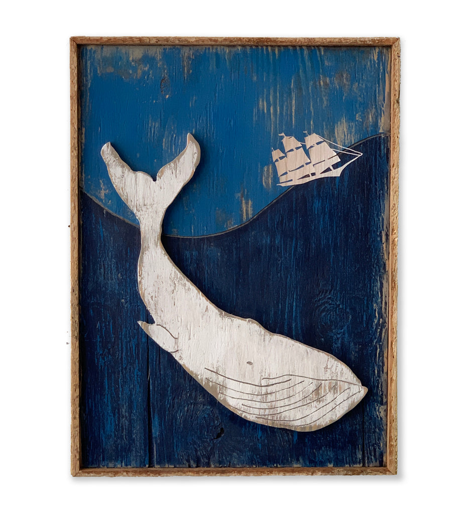 Again the Whale Went Down Wall Art Framed - Haven America