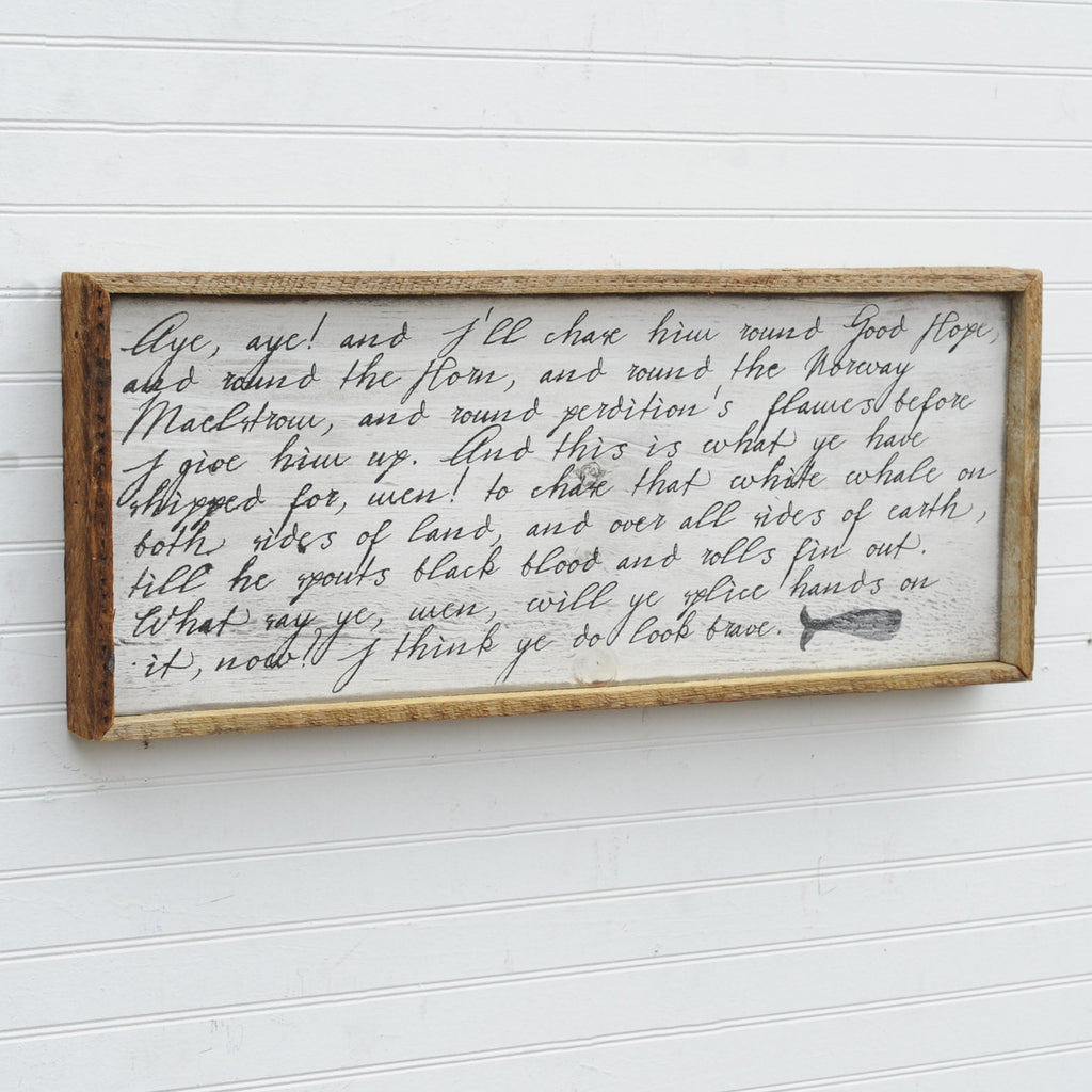 Captain Ahab Quote Wall Art - Haven America