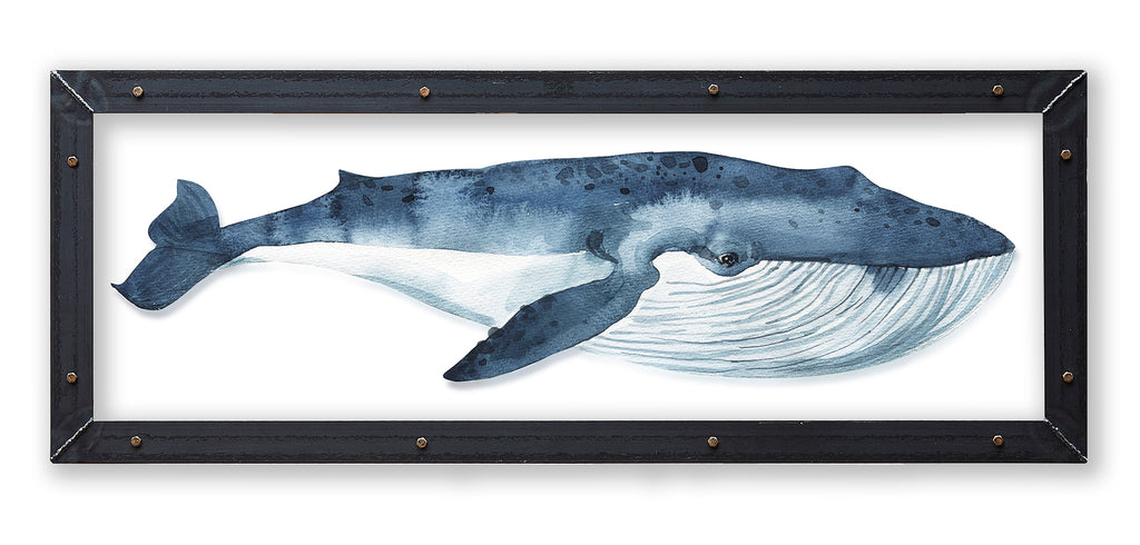 Blue Whale Print with Metal Frame - Haven America