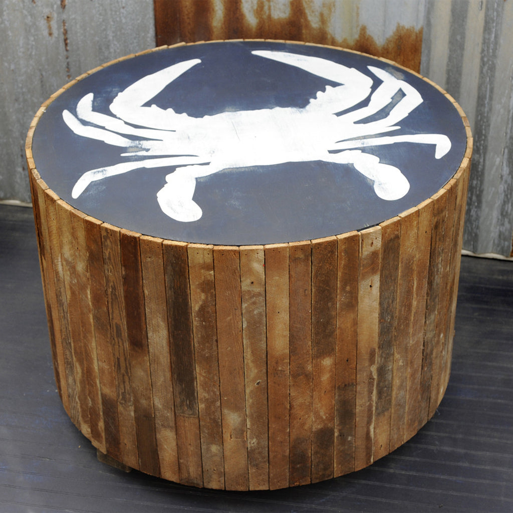 Crab Beach Table Rustic Side - Haven America