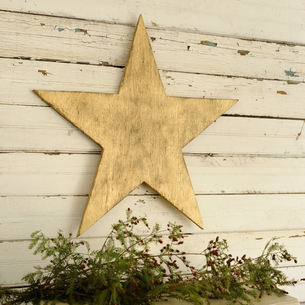 Big Five Point Wooden Star 30