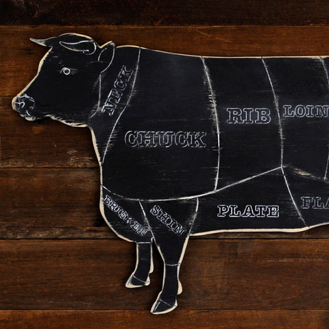 Butcher Cow on Rustic Background - Haven America