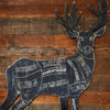 Butcher Deer on Rustic Wood - Haven America
