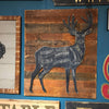 Butcher Deer on Rustic Wood Wall Art - Haven America