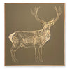 Deer Carved Wall Art