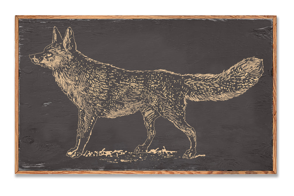 Carved Fox Framed Wall Art - Haven America