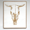 Carved Cow Skull Wall Art - Haven America