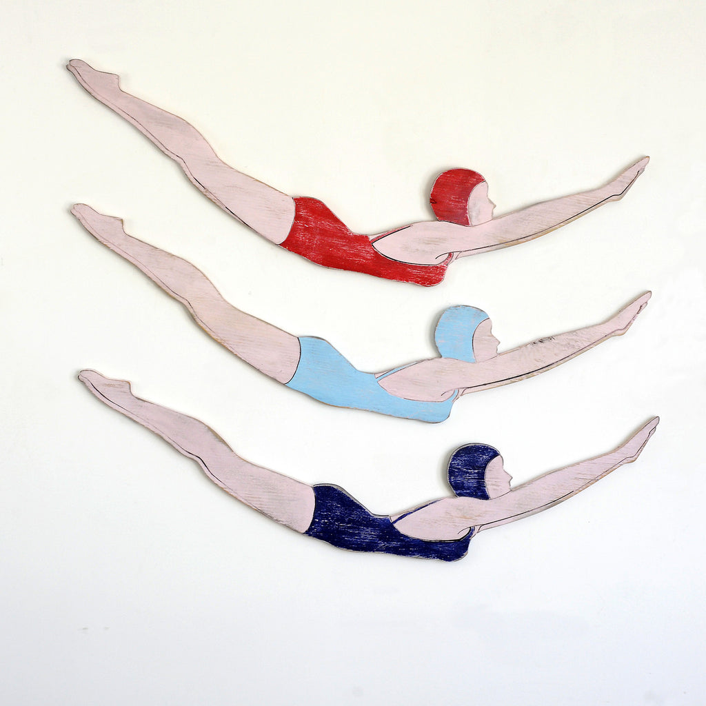 Retro Diver Girl Wall Decor - Haven America