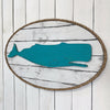 Dockside Whale Wood and Rope Plaque - Haven America