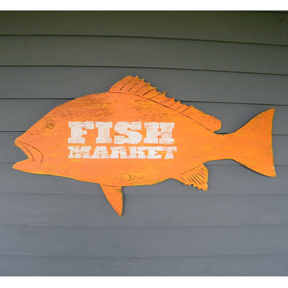 Fish Market Snapper Sign - Haven America