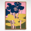 Blue Flowers Wall Art Framed - Haven America