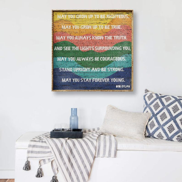 Bob Dylan Quote Wall Art 0091 Forever Young Print Art Forever Young Lyrics Decal Forever Young May You Stay Forever Young Handmade Products Kolenik Home Kitchen