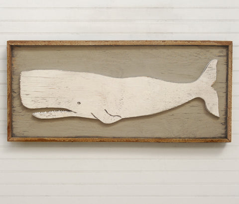 Folk Whale Framed - Haven America